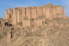 Danxia landform in Zhangye Royalty Free Stock Photos