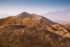 Danxia landform in Zhangye Royalty Free Stock Images