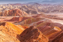 Danxia landform in Zhangye Royalty Free Stock Photography