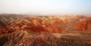 Danxia landform in Zhangye, Gansu China Royalty Free Stock Images