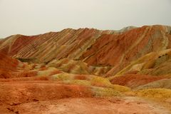 Danxia landform in Zhangye, Gansu China Stock Image