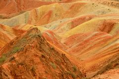 Danxia landform in Zhangye, Gansu China Stock Photos