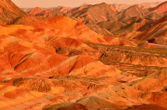 Danxia landform. Zhangye Danxia landform is a typical mountain seems to be magnified colorful pork Stock Photos