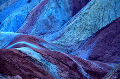 Danxia landform. Zhangye Danxia landform is a typical mountain seems to be magnified colorful pork Stock Photography
