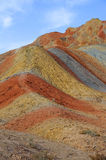 Danxia landform. In Zhanye,Gansu,China Stock Photo