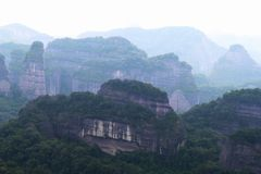 Danxia medborgare Geopark royaltyfri fotografi