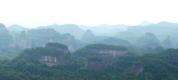 Danxia medborgare Geopark arkivfoto