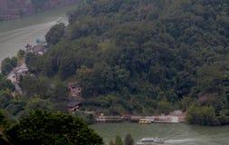 Danxia medborgare Geopark royaltyfri bild