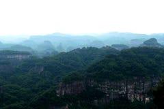 Danxia medborgare Geopark arkivbild