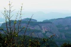 Danxia medborgare Geopark fotografering för bildbyråer