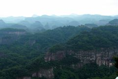 Danxia nationales Geopark lizenzfreies stockbild