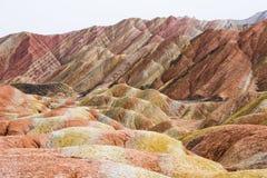 Danxia Rainbow Mountains, Zhangye, Gansu Province, China Royalty Free Stock Image