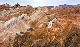 Danxia Zhangye стоковое изображение