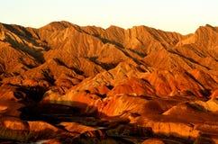Danxialandform. Northwest China's Gansu Province, Zhangye Danxialandform Stock Images