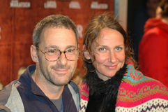 Dany Levy, Sabine Lidl. OCTOBER 25, 2005 - BERLIN: Dany Levy, Sabine Lidl at the premiere of the film Keine Lieder ueber Liebe, Kino International, Berlin Stock Photography