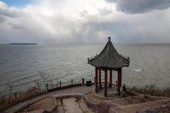 Danya Penglai Halny miasto w Shandong prowinci Zdjęcia Royalty Free