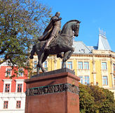 Danylo Halytsky monument in Lviv Royalty Free Stock Photos