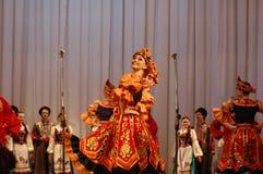 Danza étnica Barynia Fotografía de archivo libre de regalías