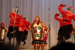 Danza étnica Barynia Imagenes de archivo