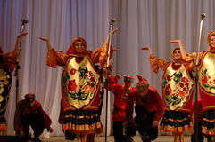 Danza étnica Barynia Fotos de archivo