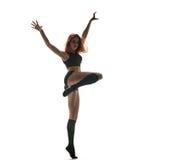 Danza agresiva Silueta del baile Foto de archivo