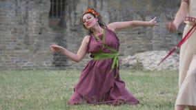 Danza antigua de las mujeres de Roma almacen de metraje de vídeo