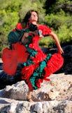 Danza apasionada 01 del flamenco Imagen de archivo libre de regalías
