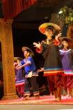 Danza camboyana tradicional de la cesta Imágenes de archivo libres de regalías