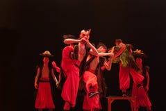 Danza china del grupo étnico: Baile Cai Imagen de archivo libre de regalías