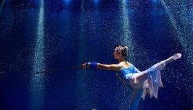 Danza china del grupo   Fotografía de archivo