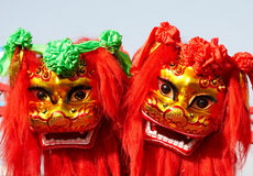 Danza china del león Imagen de archivo libre de regalías