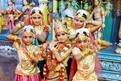 Danza clásica india imagenes de archivo