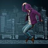 Danza como Michael foto de archivo