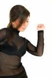 Danza con el brunette Imágenes de archivo libres de regalías