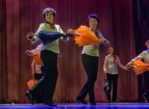 Danza con los paraguas Foto de archivo libre de regalías