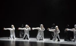 Danza con un ` de la danza del ` s de máscara-Huang Mingliang ningún ` del refugio fotografía de archivo
