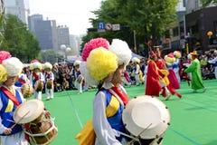 Danza coreana del día de fiesta Fotografía de archivo libre de regalías