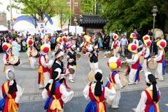Danza coreana del día de fiesta Imagenes de archivo