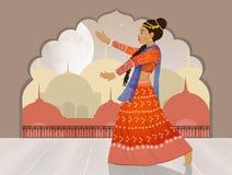Danza de Bollywood del indio libre illustration