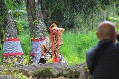 Danza de Cirebon del Javanese foto de archivo