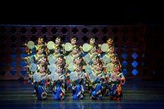 Danza de fan Imagen de archivo libre de regalías