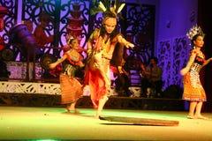 Danza de Iban Warrior Foto de archivo libre de regalías