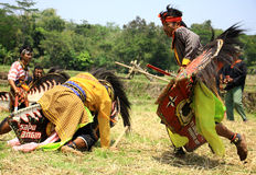 Danza de Jathilan Fotos de archivo libres de regalías