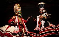 Danza de Kathakali en Kerala, la India fotografía de archivo libre de regalías