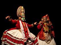 Danza de Kathakali en Kerala, la India fotografía de archivo