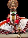 Danza de Kathakali en Kerala, la India del sur imagen de archivo libre de regalías