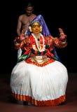 Danza de Kathakali en Kerala, la India del sur fotos de archivo libres de regalías