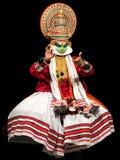 Danza de Kathakali en Kerala, la India del sur foto de archivo libre de regalías