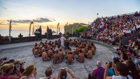 Danza de Kecak Imagenes de archivo