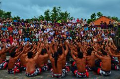 Danza de Kecak Imágenes de archivo libres de regalías